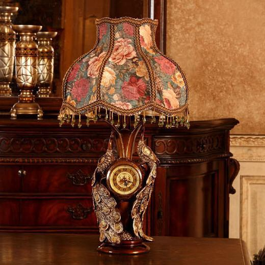 Double-peacock-table-lamp